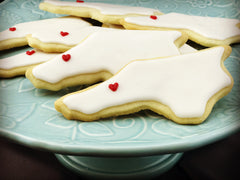 NC shaped sugar cookies