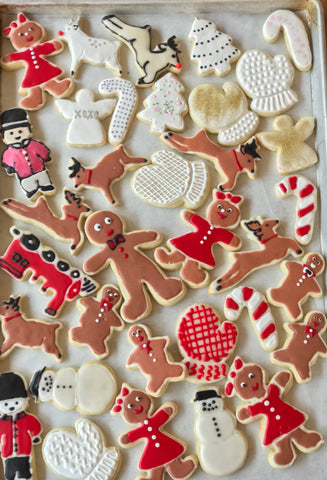 Let us do your Holiday Baking For you! Hand Piped Delicious Sugar Cookies