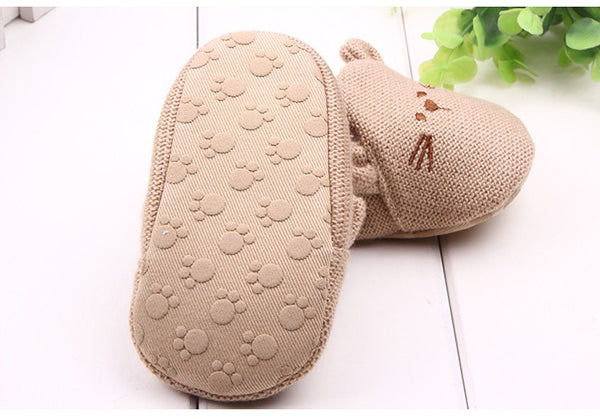 Bear Pattern Baby Shoes
