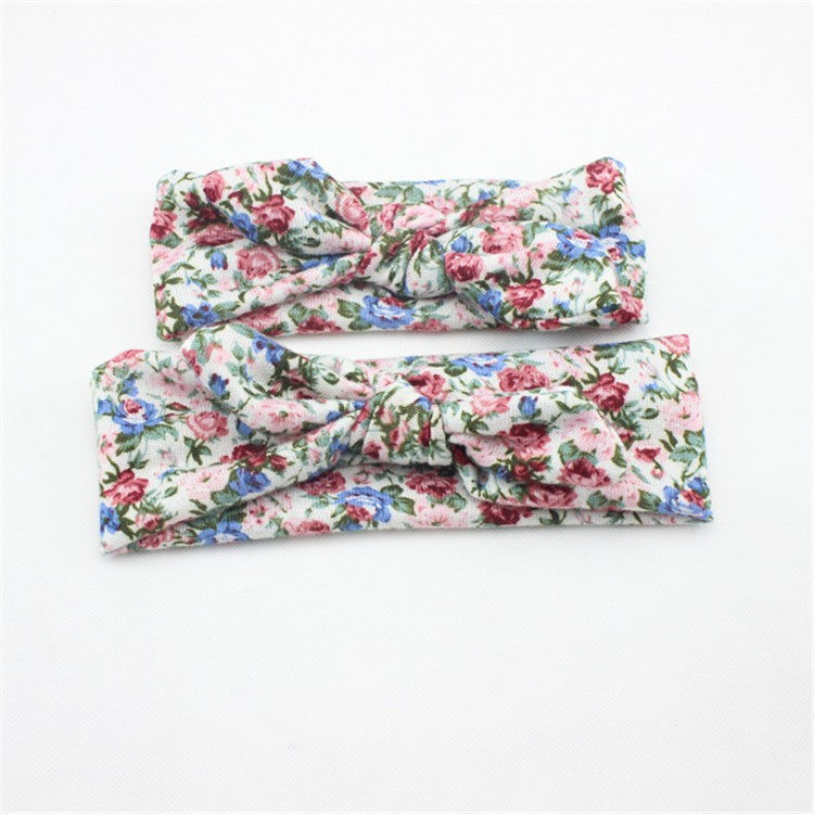 Flower Print Mommy & Me Headwrap