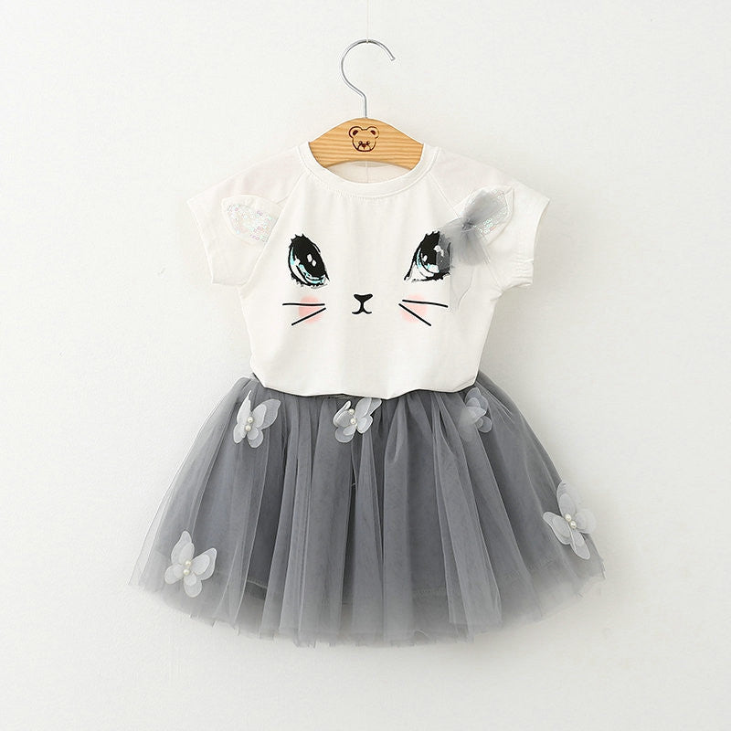 Kitty Top and Skirt set