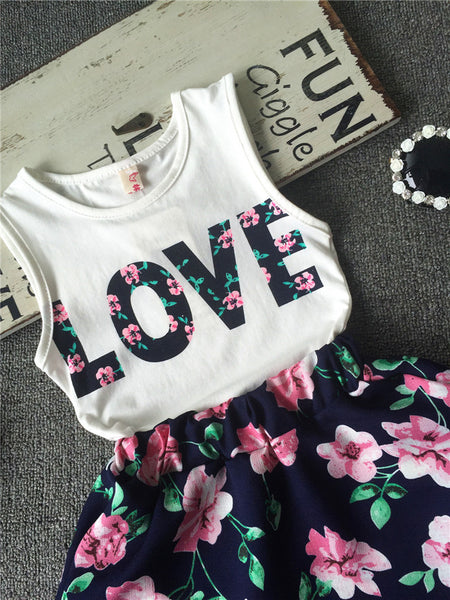Lovebug Top & Skirt Set