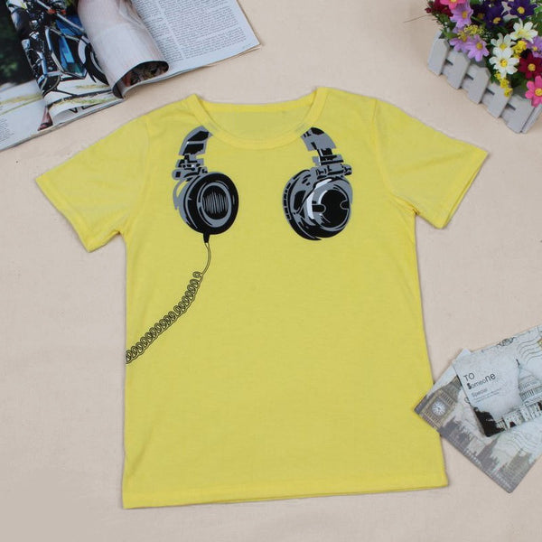 Milo Headphone Tee-Yellow