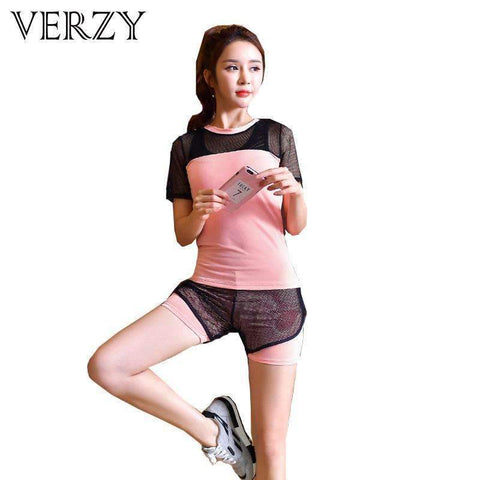 3 Pieces Women Sports Suit T-shirts Bra Shorts Clothes. - Ultimate Yoga Bliss, Yoga Leggings, Yoga Pants, Yoga Tops