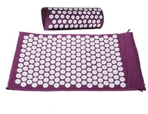 Acupressure Massager Yoga Mat and Pillow Set- Less Pain More Relaxation