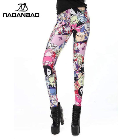 American Cartoon Printed Leggings - Ultimate Yoga Bliss, Yoga Leggings, Yoga Pants, Yoga Tops