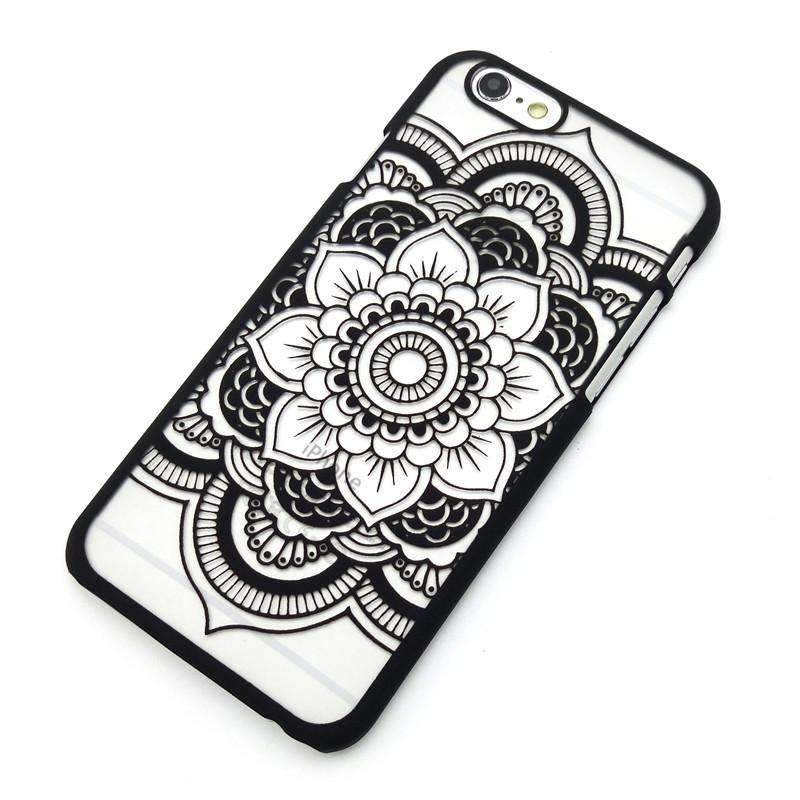 Beautiful Henna Mandala Flower Phone Cases - Ultimate Yoga Bliss, Yoga Leggings, Yoga Pants, Yoga Tops