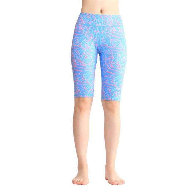 Ultimate Yoga Bliss:Beautiful Knee Length Color Print Yoga Shorts.,printed 8 / L,Yoga Leggings, Yoga Capri, Yoga Clothing, Yoga accessories