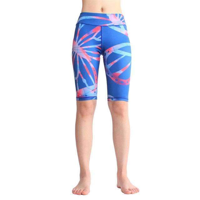 Ultimate Yoga Bliss:Beautiful Knee Length Color Print Yoga Shorts.,printed 12 / L,Yoga Leggings, Yoga Capri, Yoga Clothing, Yoga accessories