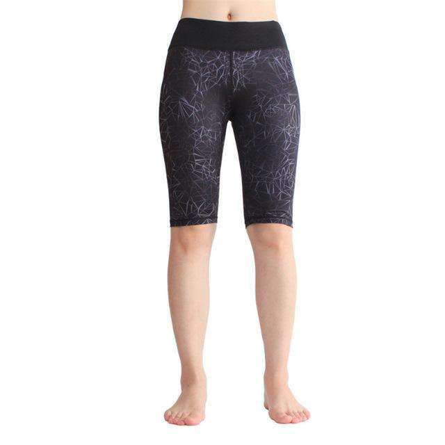 Ultimate Yoga Bliss:Beautiful Knee Length Color Print Yoga Shorts.,printed 2 / L,Yoga Leggings, Yoga Capri, Yoga Clothing, Yoga accessories