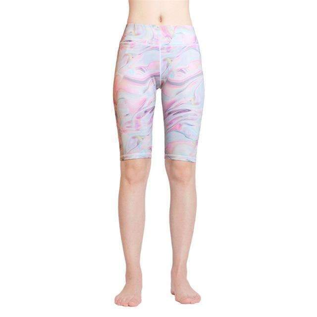 Ultimate Yoga Bliss:Beautiful Knee Length Color Print Yoga Shorts.,printed 10 / L,Yoga Leggings, Yoga Capri, Yoga Clothing, Yoga accessories