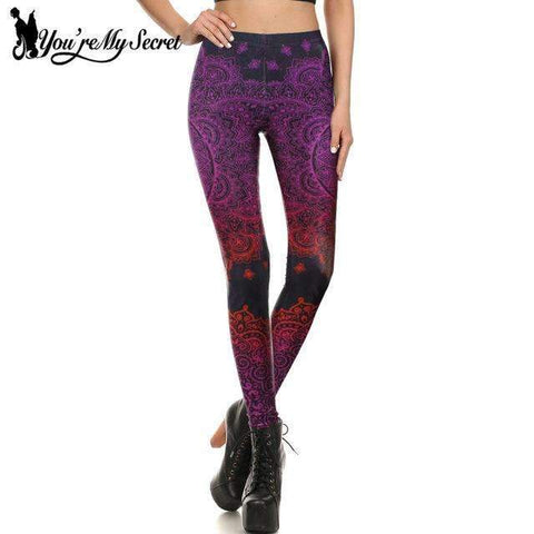 Black Flower Printed Leggings - Ultimate Yoga Bliss, Yoga Leggings, Yoga Pants, Yoga Tops