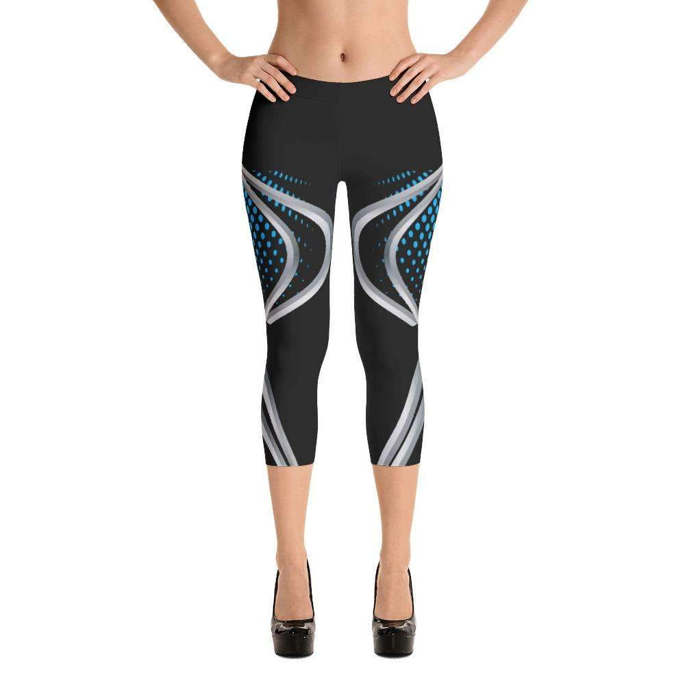 Black Panther Yoga Capri - Ultimate Yoga Bliss, Yoga Leggings, Yoga Pants, Yoga Tops