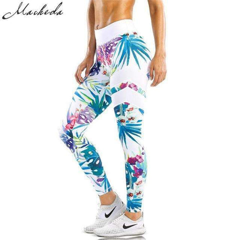 Blue Dazy Printed Leggings - Ultimate Yoga Bliss, Yoga Leggings, Yoga Pants, Yoga Tops