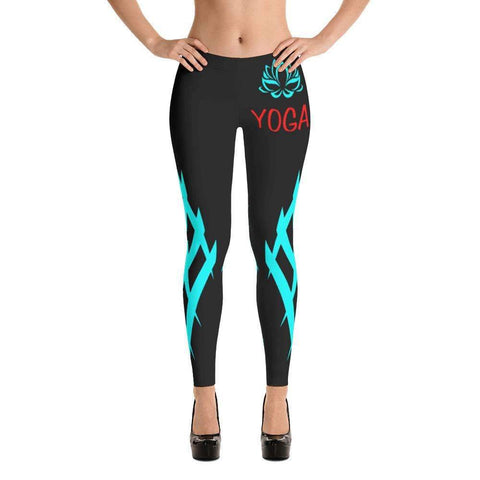 Blue Heart Leggings - Ultimate Yoga Bliss, Yoga Leggings, Yoga Pants, Yoga Tops