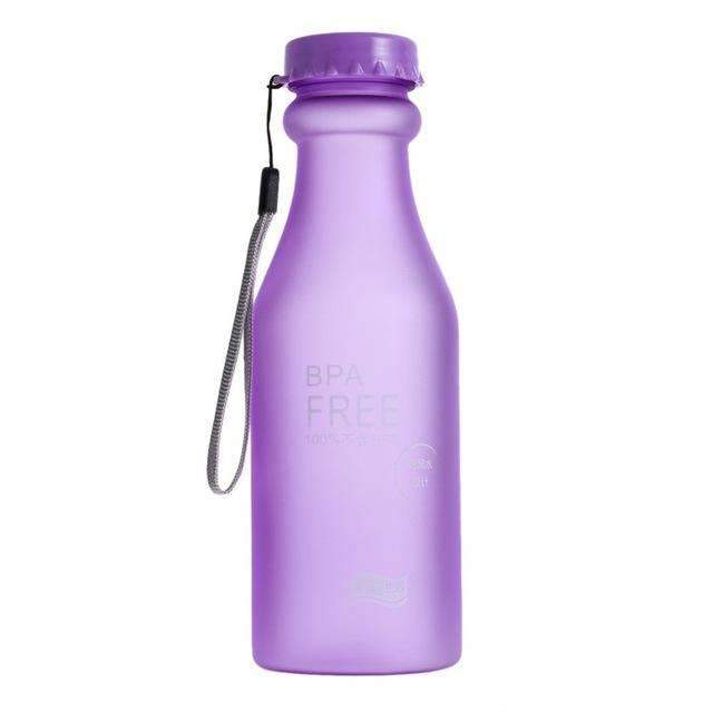 Candy Colors Unbreakable Frosted Leak-proof 550mL BPA Free Portable Water Bottle. - Ultimate Yoga Bliss, Yoga Leggings, Yoga Pants, Yoga Tops