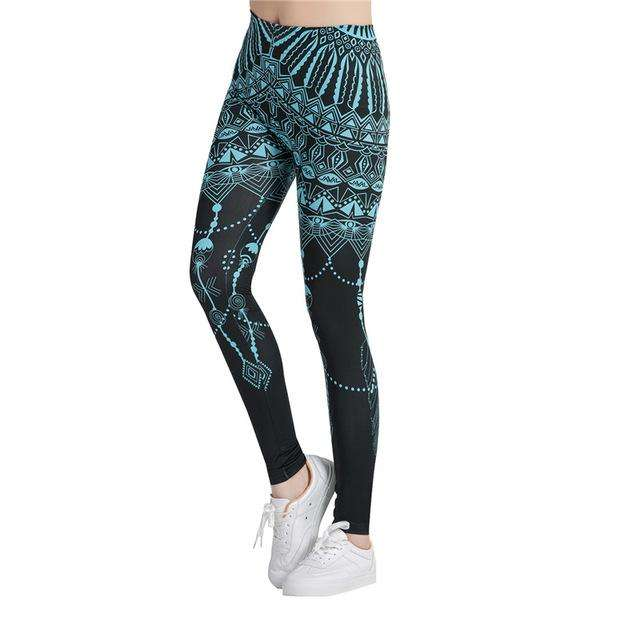 Chakra Printed Leggings - Ultimate Yoga Bliss, Yoga Leggings, Yoga Pants, Yoga Tops