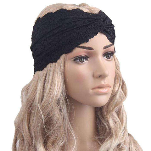 Chic Lace Turban Headband- A Must Buy Hair Accessory - Ultimate Yoga Bliss, Yoga Leggings, Yoga Pants, Yoga Tops