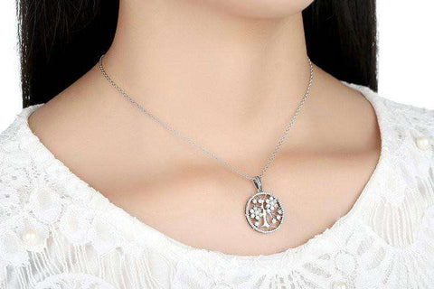 Ultimate Yoga Bliss:Classic Sterling Silver Tree of Life Pendant Necklace,[variant_title],Yoga Leggings, Yoga Capri, Yoga Clothing, Yoga accessories