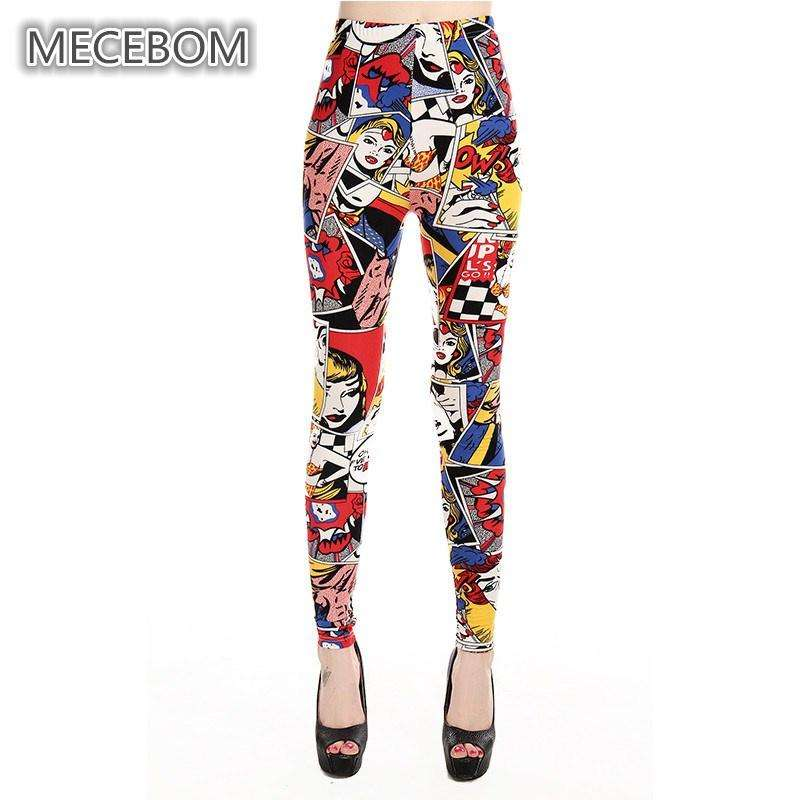 Comic clown Printed Leggings - Ultimate Yoga Bliss, Yoga Leggings, Yoga Pants, Yoga Tops