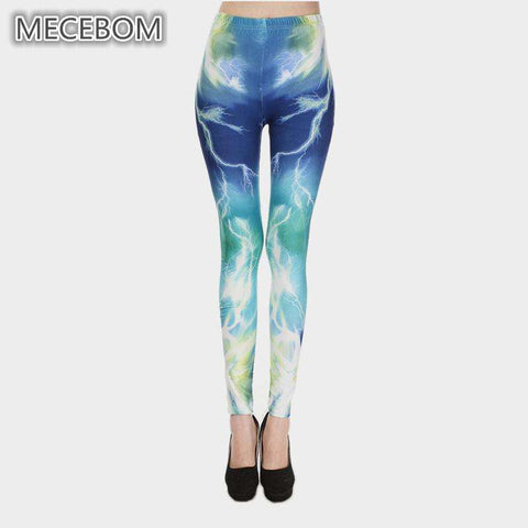 Lightning Theme Printed Leggings - Ultimate Yoga Bliss, Yoga Leggings, Yoga Pants, Yoga Tops