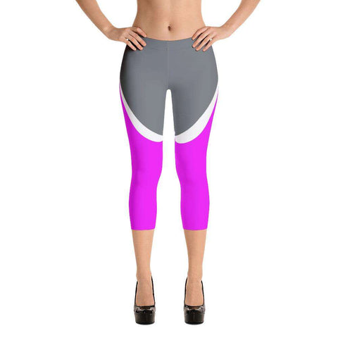 Ultimate Yoga Bliss:Power Pink Yoga Capri,XS,Yoga Leggings, Yoga Capri, Yoga Clothing, Yoga accessories