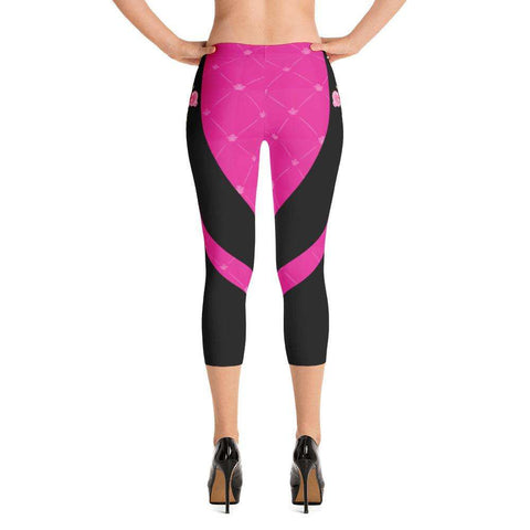 Sexcy Pink Yoga Capri - Ultimate Yoga Bliss, Yoga Leggings, Yoga Pants, Yoga Tops