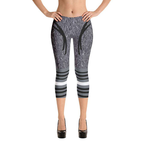 Ultimate Yoga Bliss:Shades of Grey Yoga Capri,XS,Yoga Leggings, Yoga Capri, Yoga Clothing, Yoga accessories