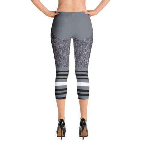 Shades of Grey Yoga Capri - Ultimate Yoga Bliss, Yoga Leggings, Yoga Pants, Yoga Tops