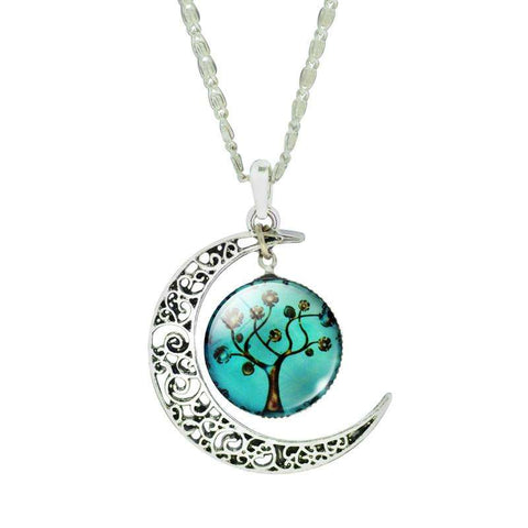Ultimate Yoga Bliss:Silver Moon Tree of Life Necklace- A Unique Collectible,2,Yoga Leggings, Yoga Capri, Yoga Clothing, Yoga accessories