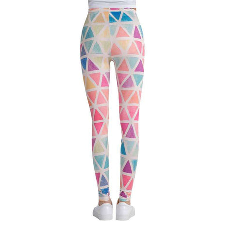 Triangle Maze Printed Leggings - Ultimate Yoga Bliss, Yoga Leggings, Yoga Pants, Yoga Tops