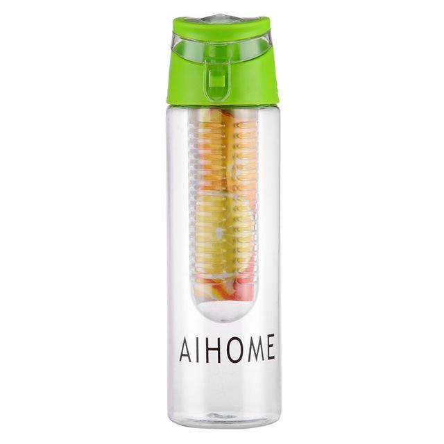 Ultimate Yoga Bliss:Water bottle with fruit infuser 800ml.,China / 701-800ml / Green,Yoga Leggings, Yoga Capri, Yoga Clothing, Yoga accessories