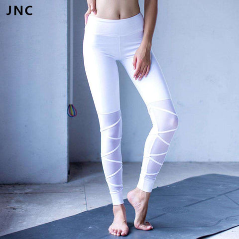 White&Black Mesh Yoga Leggings - Ultimate Yoga Bliss, Yoga Leggings, Yoga Pants, Yoga Tops