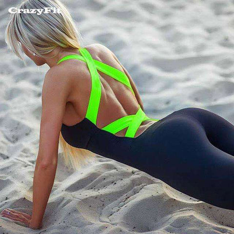 Ultimate Yoga Bliss:Women's Sexy one piece yoga jumpsuit.,Green / XS,Yoga Leggings, Yoga Capri, Yoga Clothing, Yoga accessories