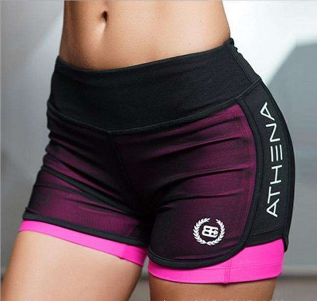 Women's Two-Pieces Shorts for Running Fitness Gym Workout. - Ultimate Yoga Bliss, Yoga Leggings, Yoga Pants, Yoga Tops