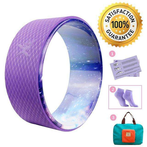 Ultimate Yoga Bliss:Yoga Wheel Set,Purple,Yoga Leggings, Yoga Capri, Yoga Clothing, Yoga accessories