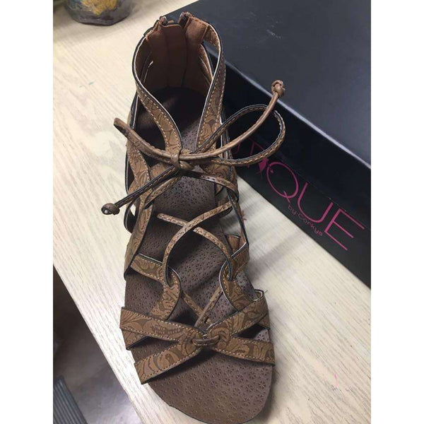 Lace Strappy Wedge