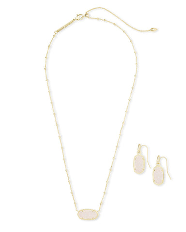 Kendra Scott Elisa Satellite Necklace & Lee Earrings Gift Set