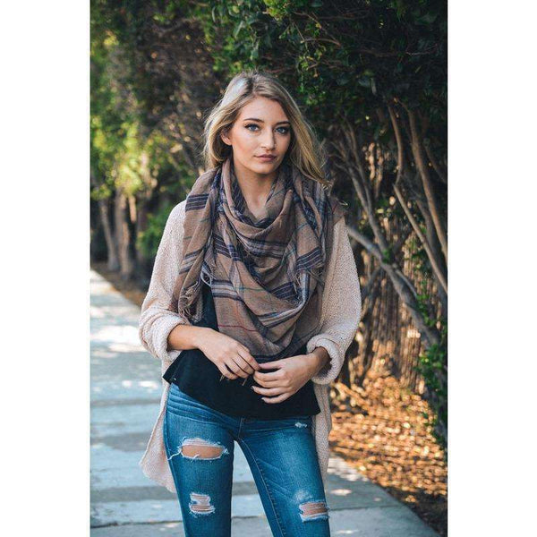 Hayden Plaid Blanket Scarf