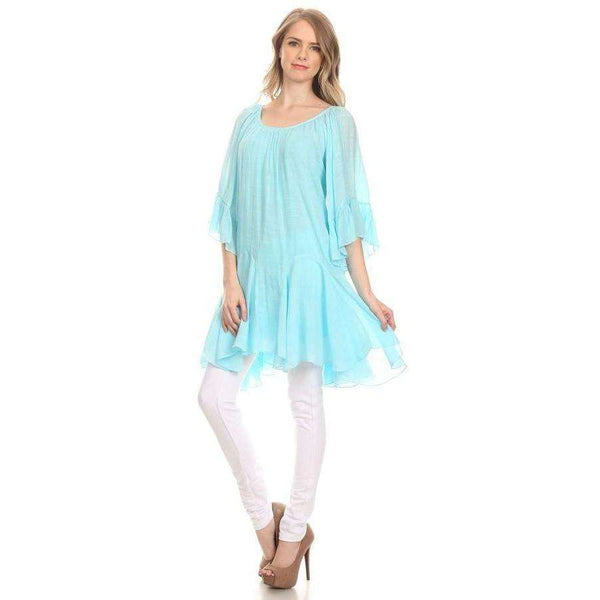 Morgan Bohemian Style Tunic with Ruffle Detail