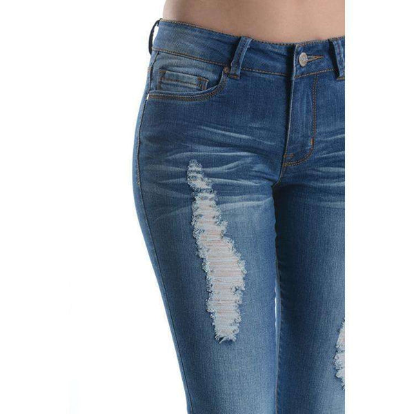 Aster Lightly Distressed Skinny Jeans