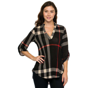 Joslin Plaid Tunic