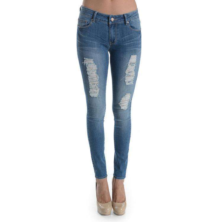 Sonya Skinny Medium Wash Distressed Jeans