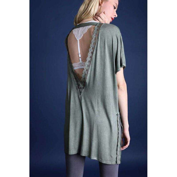 Leah Open Back Cardigan