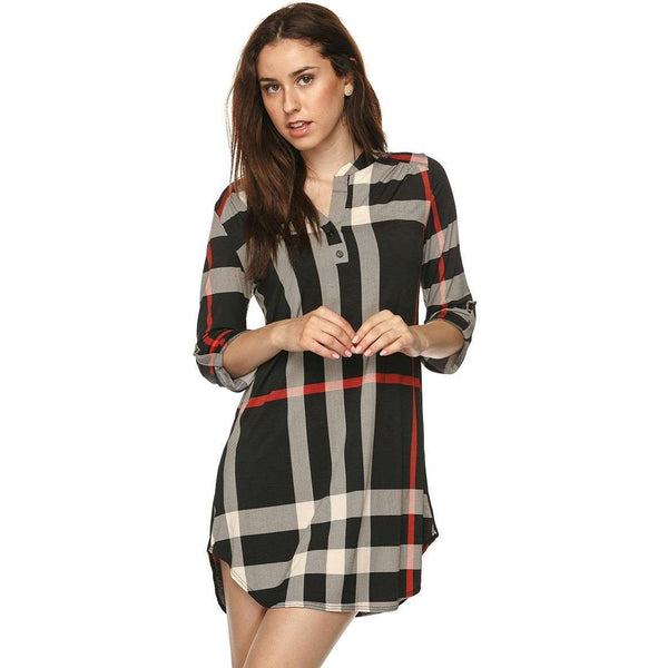 Kimberly Plaid Lush Dress
