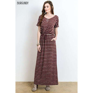Brielle Burgundy Maxi Dress