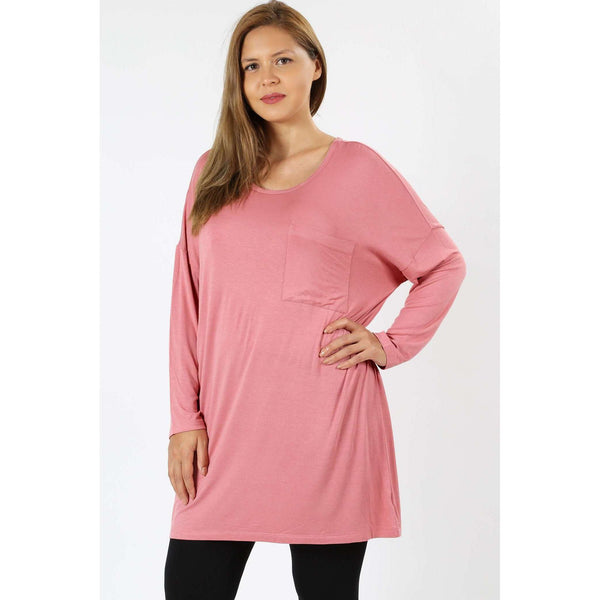 Shontel Long Sleeve Lush Pocket Tee