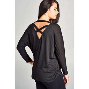 Switzerland Lush Tunic Top With Open Back Criss Cross Detail