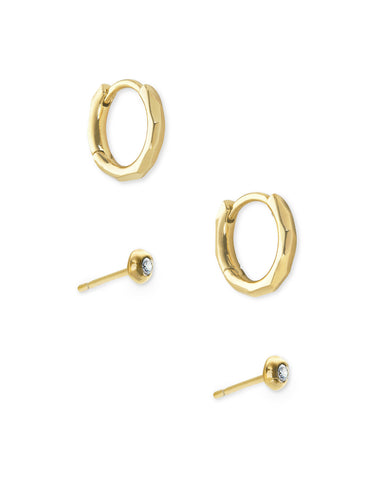 Kendra Scott Addison Huggie and Stud Earrings Set