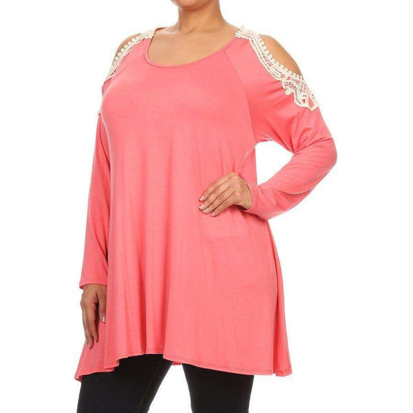 Cora Cold Shoulder Long Sleeve Top